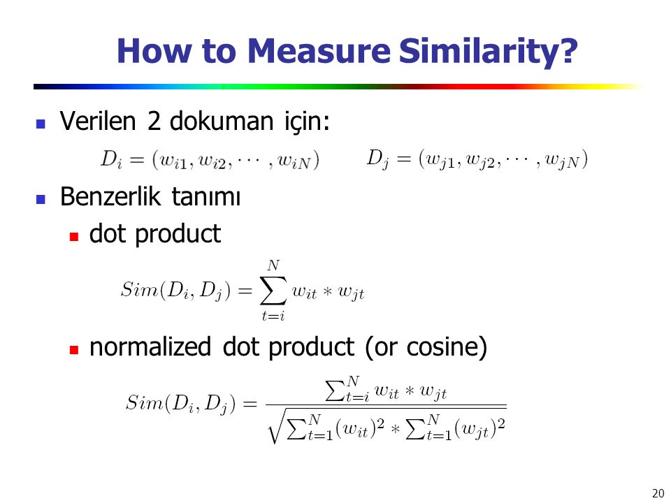 How to Measure Similarity