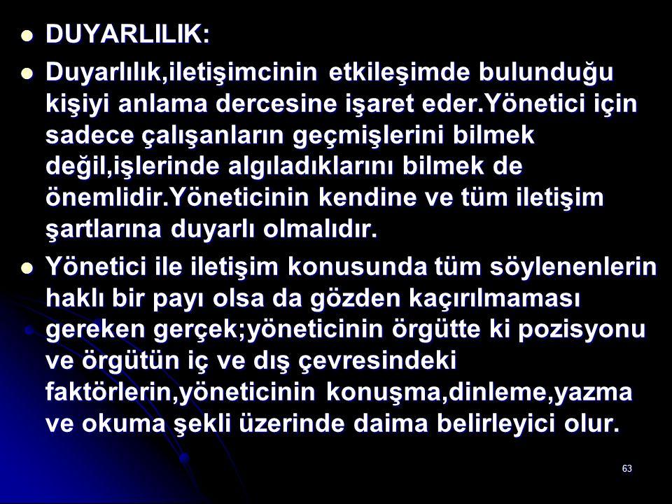 DUYARLILIK: