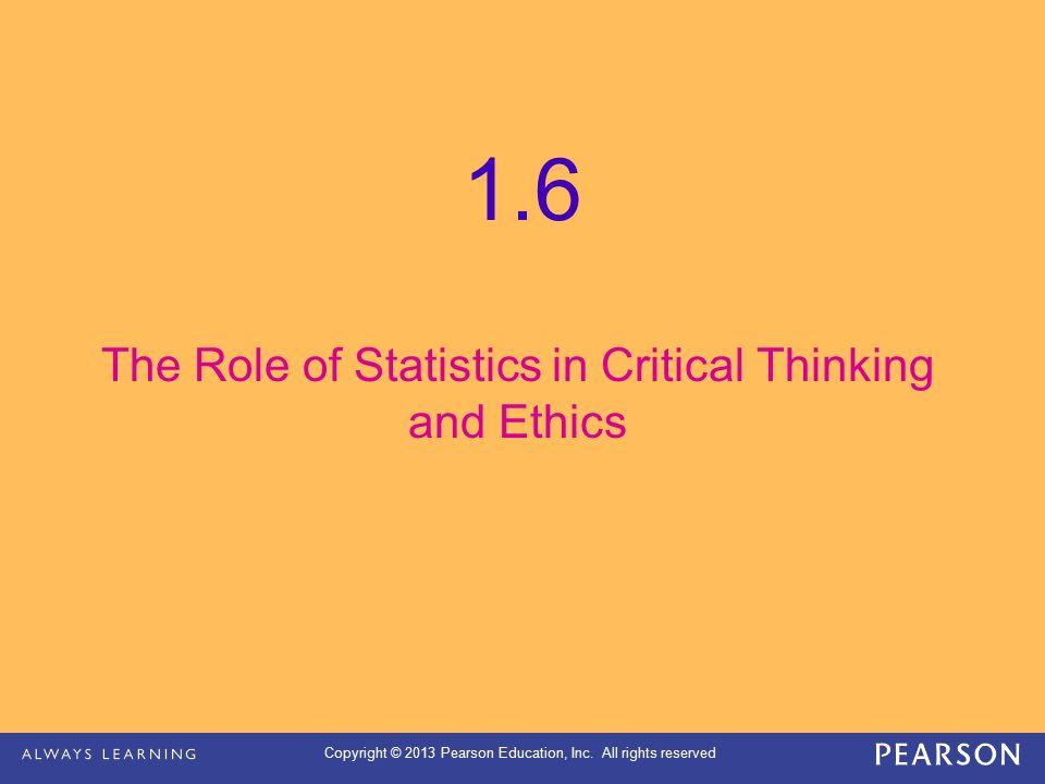 Critical Thinking Statistics