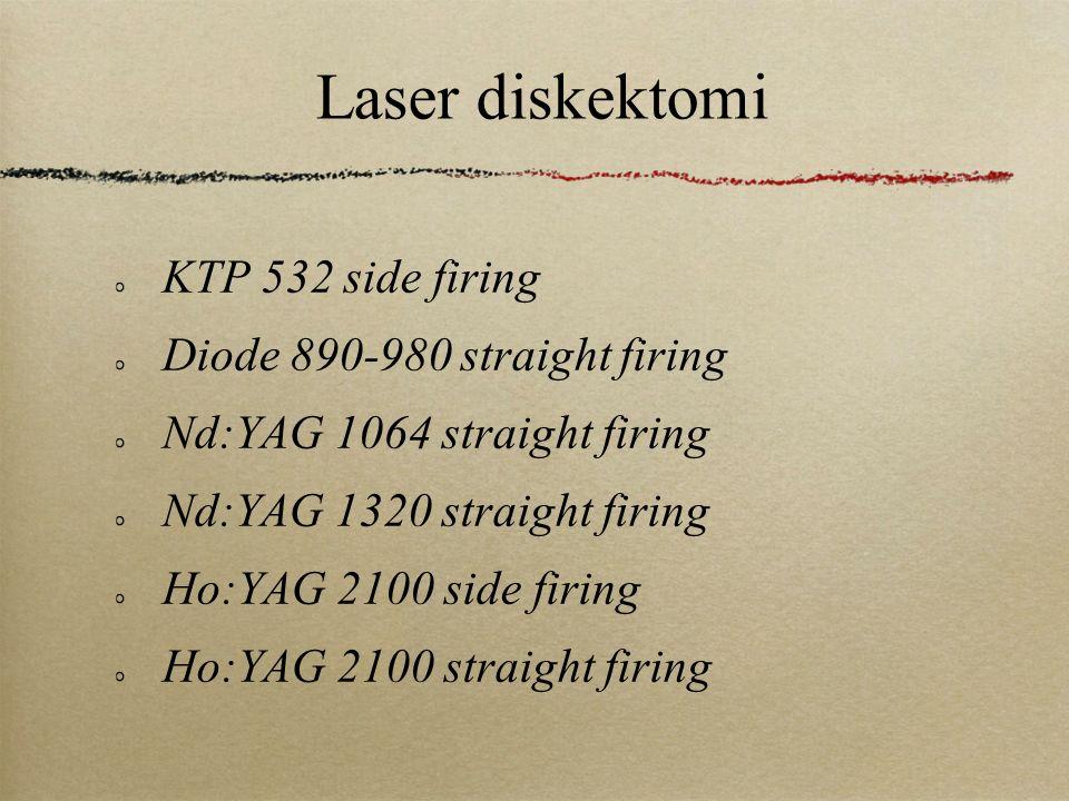 Laser diskektomi KTP 532 side firing Diode 890-980 straight firing