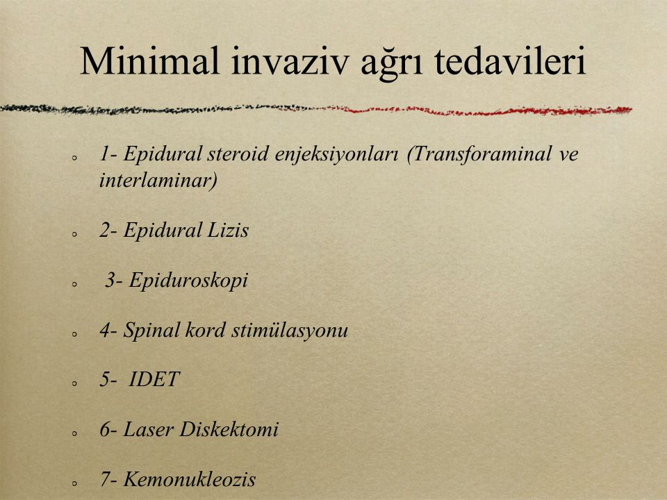 Minimal invaziv ağrı tedavileri
