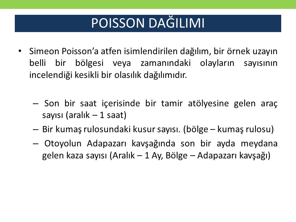POISSON DAĞILIMI