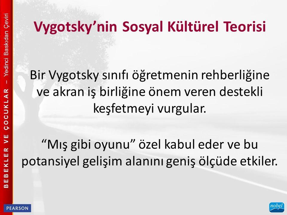 Vygotsky'nin Sosyal Kültürel Teorisi