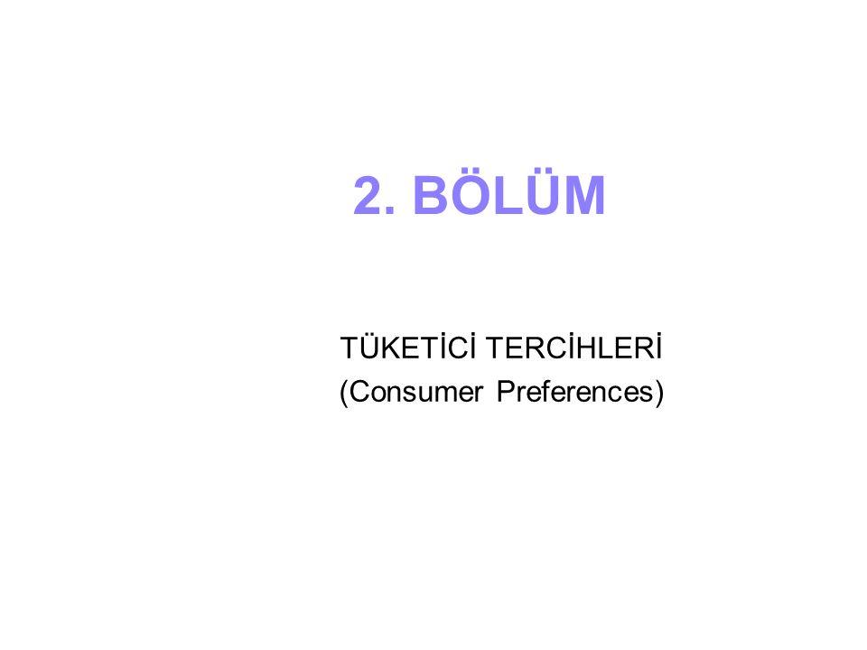 TÜKETİCİ TERCİHLERİ (Consumer Preferences)