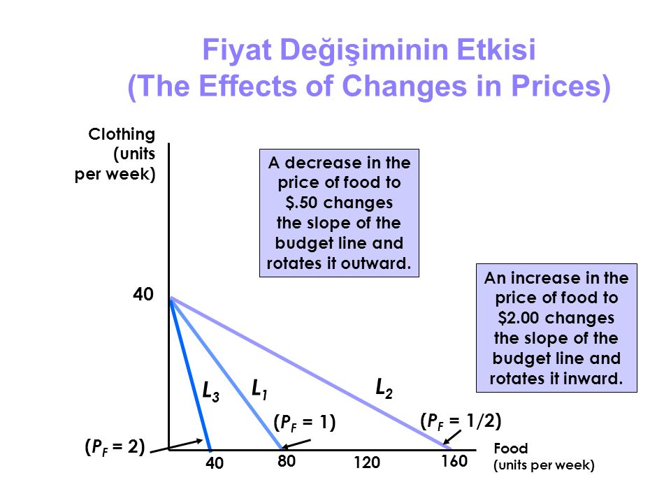 Fiyat Değişiminin Etkisi (The Effects of Changes in Prices)