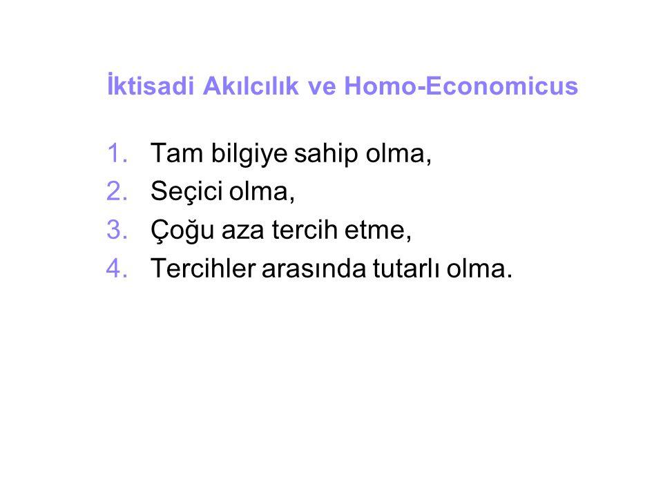 İktisadi Akılcılık ve Homo-Economicus