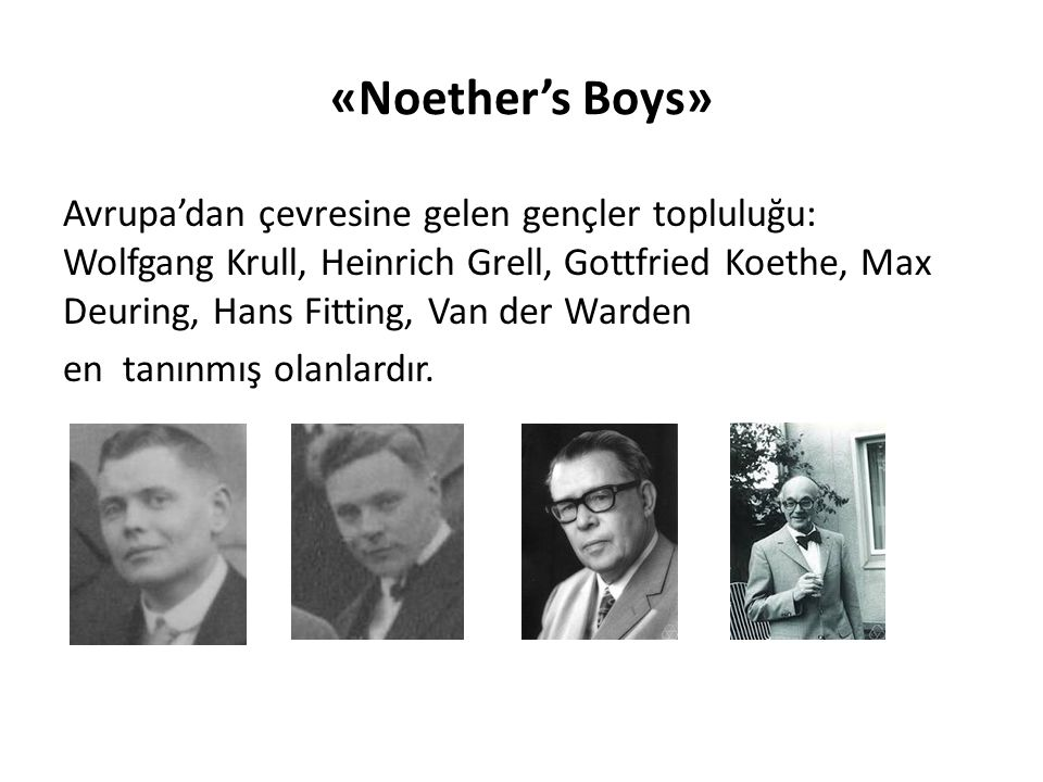 «Noether's Boys»