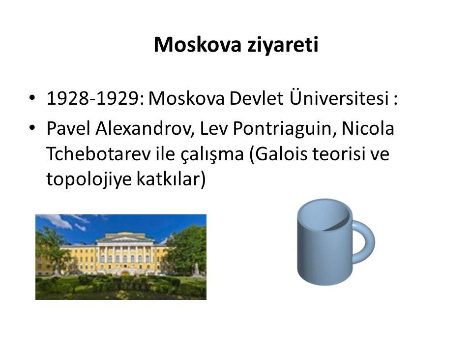 Moskova ziyareti 1928-1929: Moskova Devlet Üniversitesi :