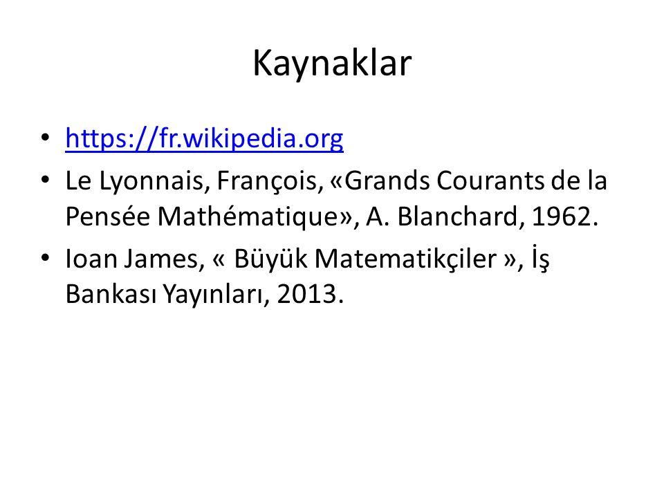 Kaynaklar https://fr.wikipedia.org
