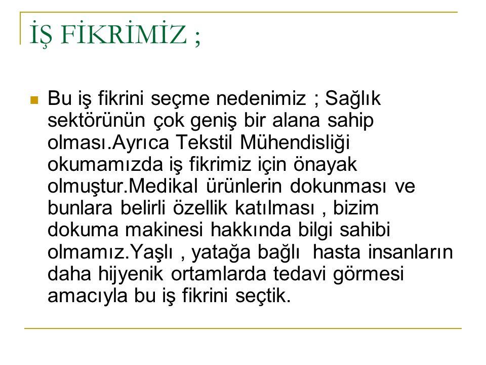 İŞ FİKRİMİZ ;