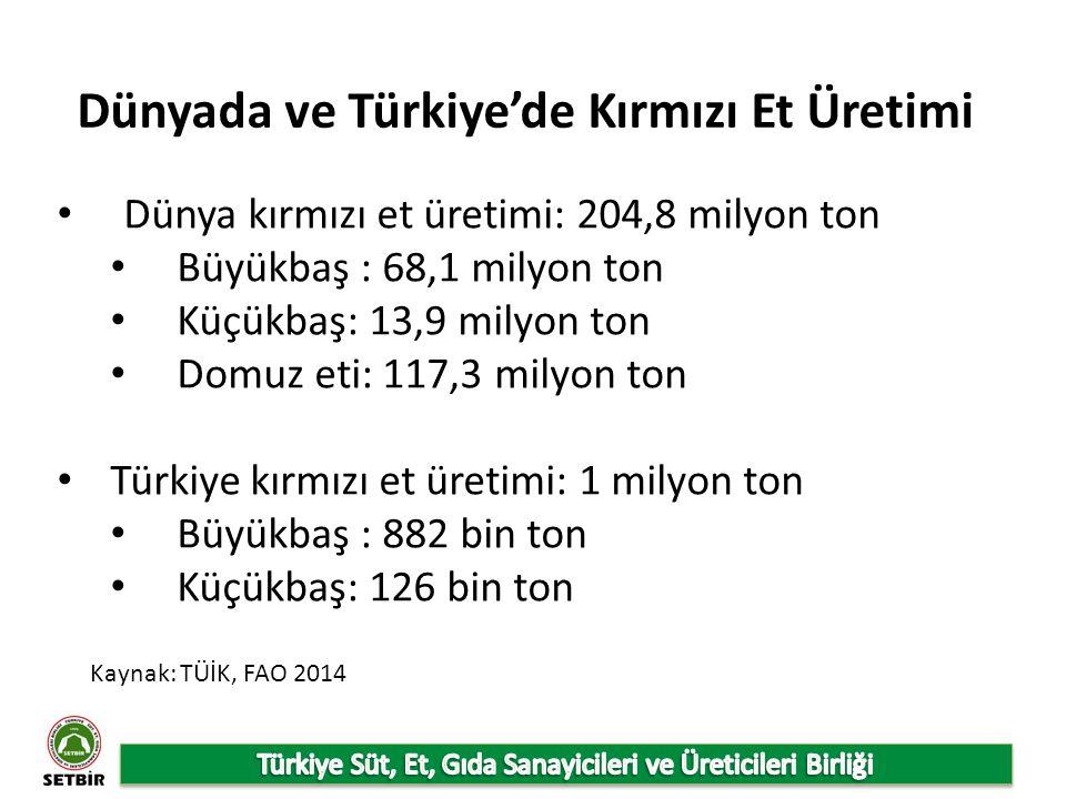 Dünyada ve Türkiye'de Kırmızı Et Üretimi
