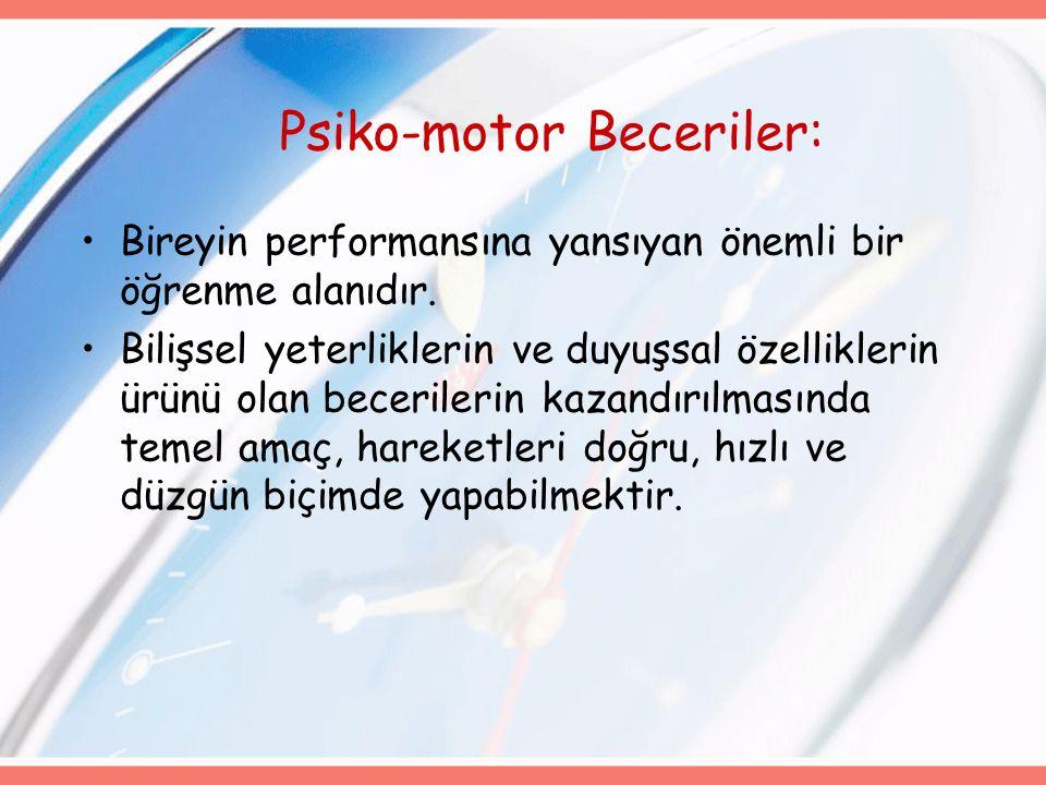 Psiko-motor Beceriler: