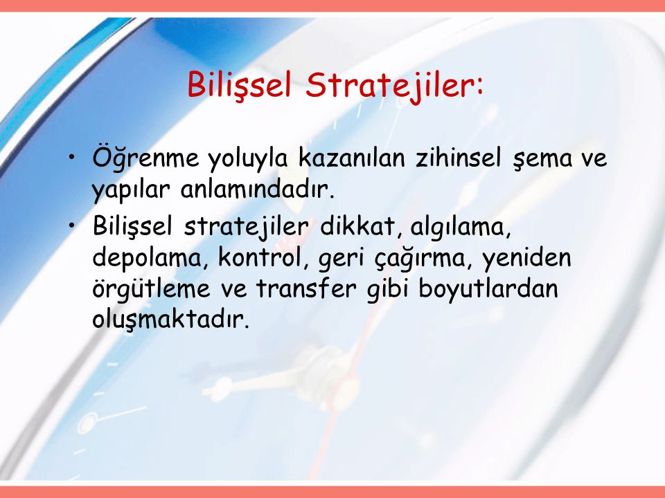 Bilişsel Stratejiler: