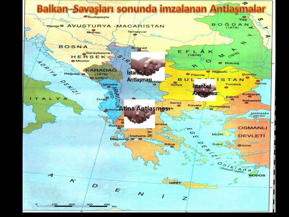 Balkan Savaşları sonunda imzalanan Antlaşmalar