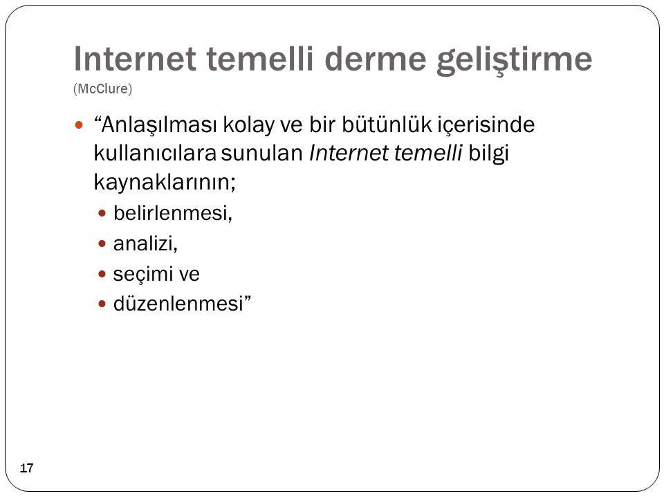 Internet temelli derme geliştirme (McClure)