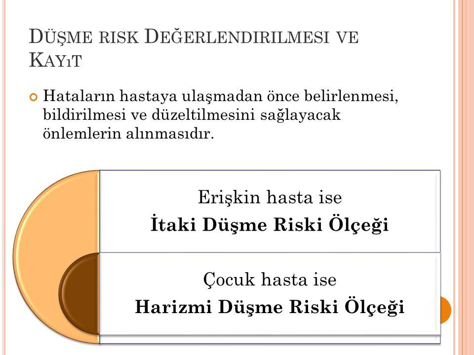 Düşme risk Değerlendirilmesi ve Kayıt