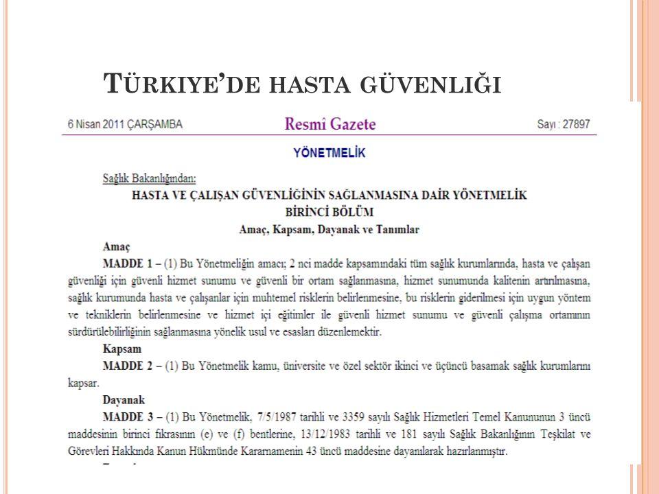 Türkiye'de hasta güvenliği
