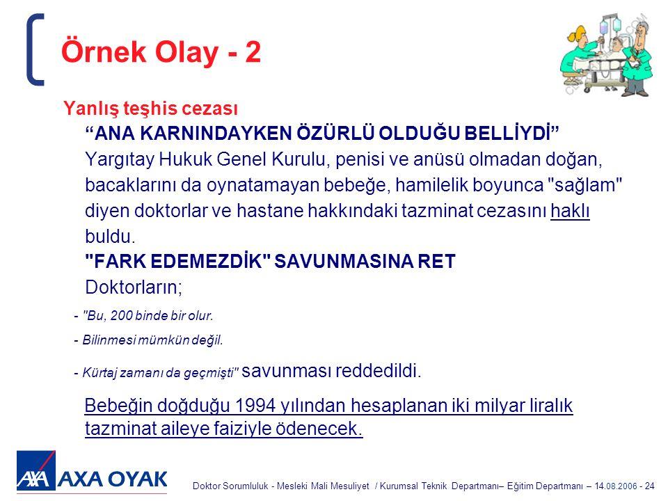 Örnek Olay - 2
