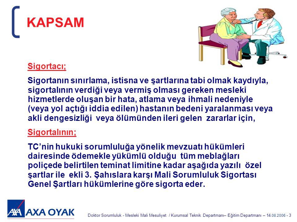 KAPSAM Sigortacı;