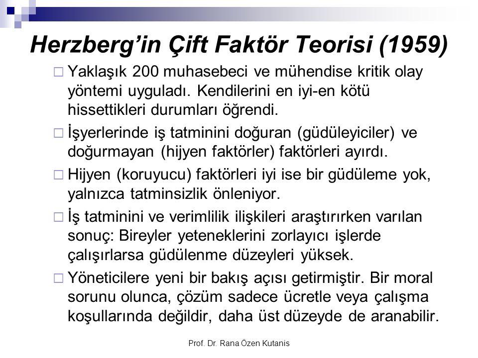 Herzberg'in Çift Faktör Teorisi (1959)
