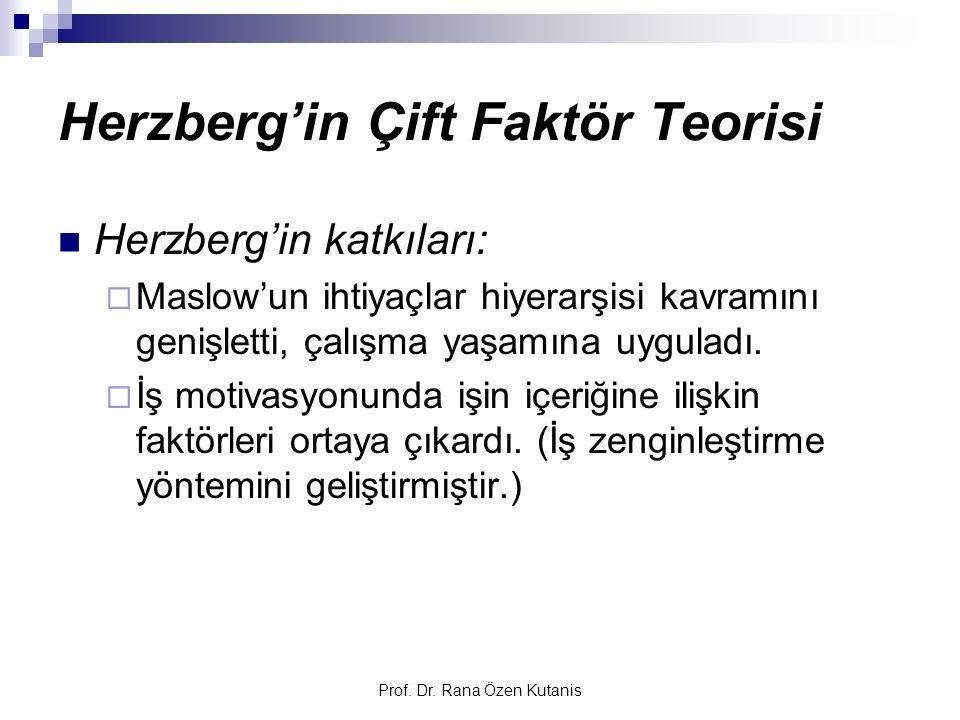 Herzberg'in Çift Faktör Teorisi