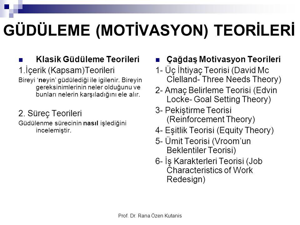 GÜDÜLEME (MOTİVASYON) TEORİLERİ