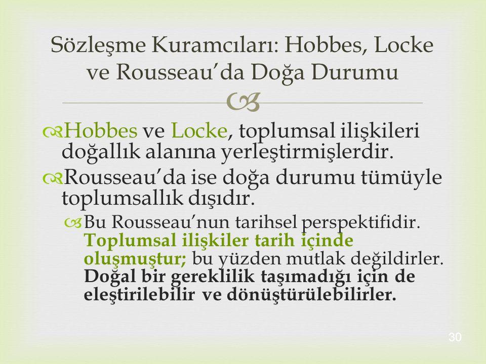 Sözleşme Kuramcıları: Hobbes, Locke ve Rousseau'da Doğa Durumu