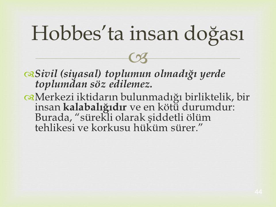 Hobbes'ta insan doğası