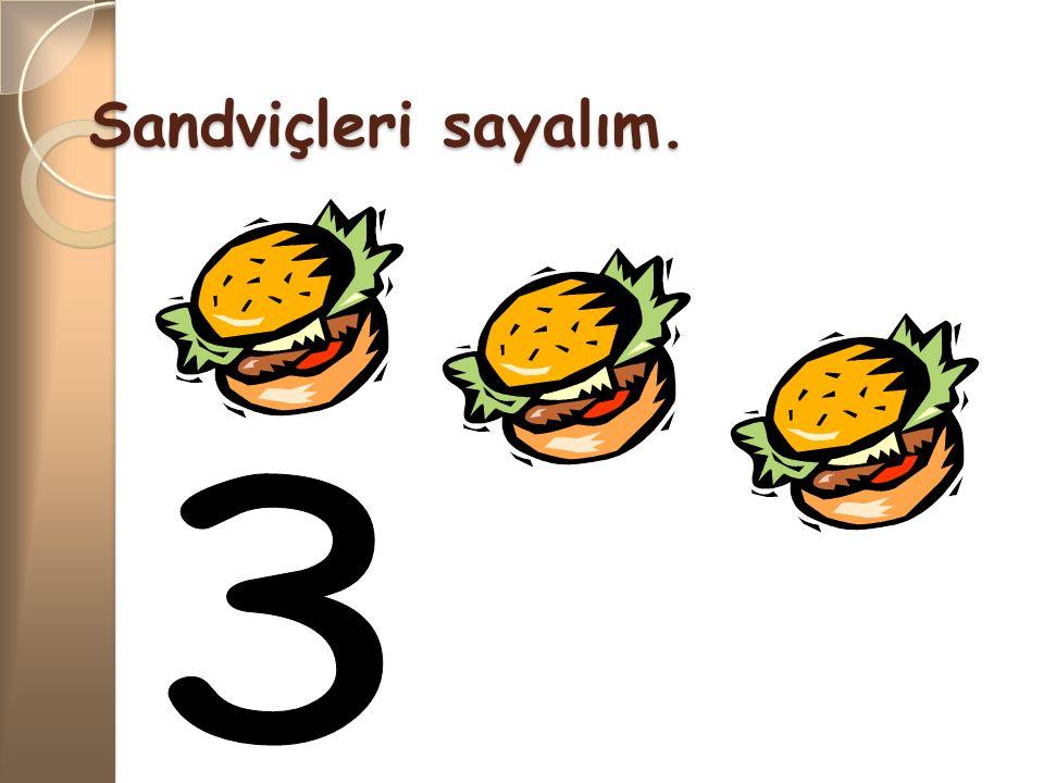 Sandviçleri sayalım. 3