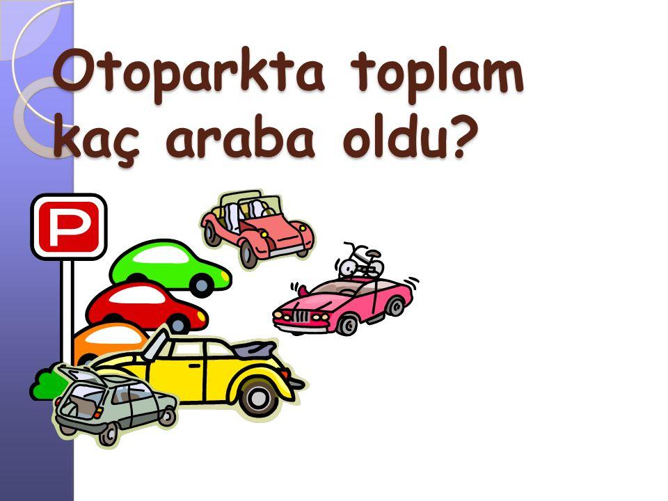 Otoparkta toplam kaç araba oldu