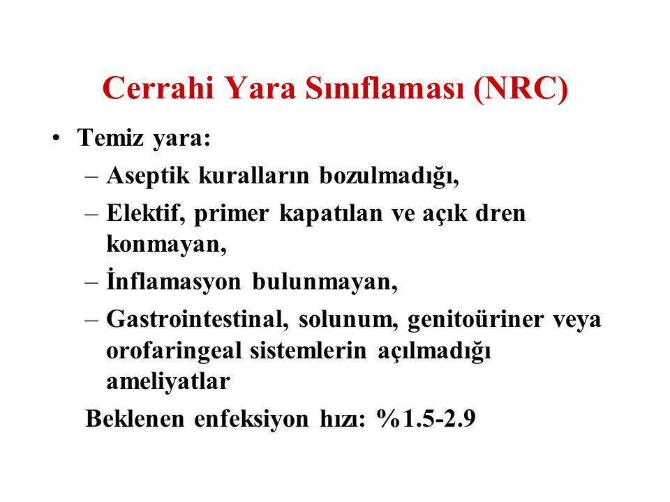 Cerrahi Yara Sınıflaması (NRC)