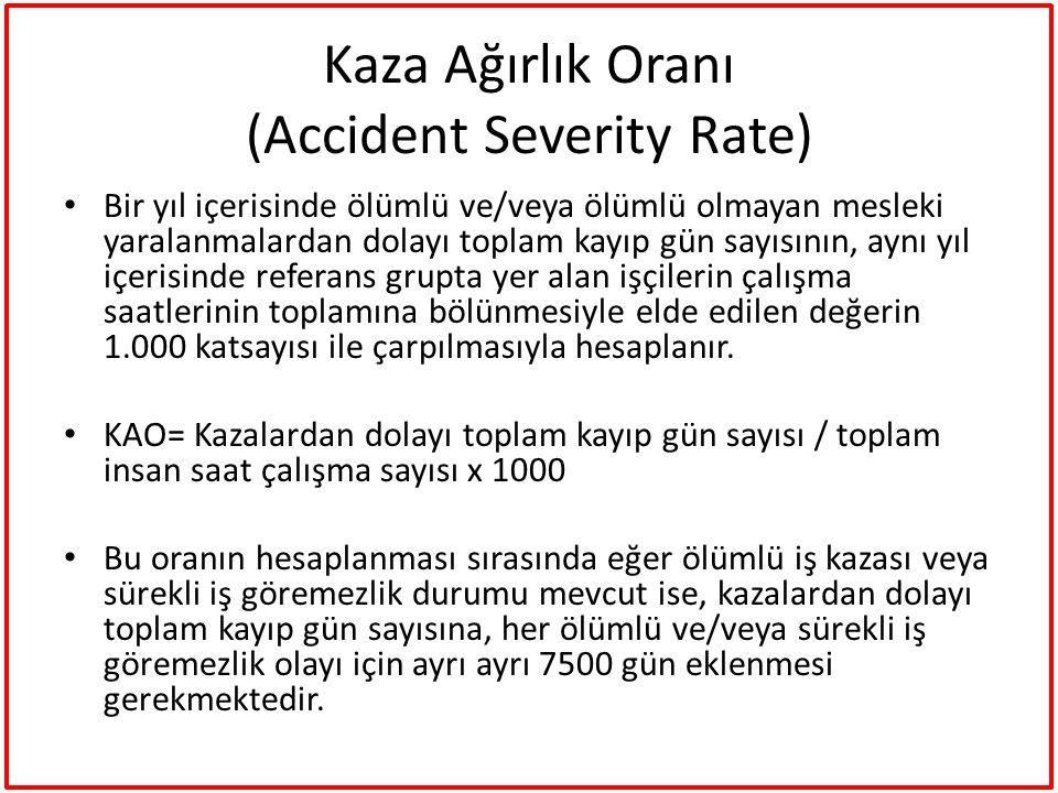 Kaza Ağırlık Oranı (Accident Severity Rate)