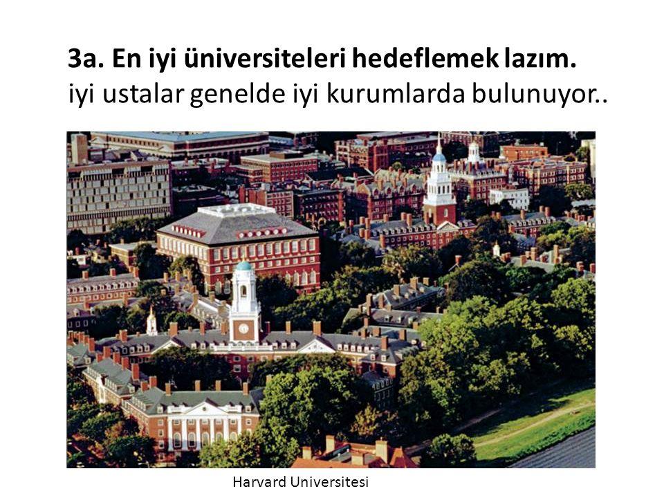 3a. En iyi üniversiteleri hedeflemek lazım.