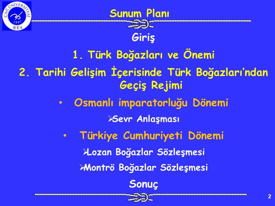 Türk Boğazları ve Önemi