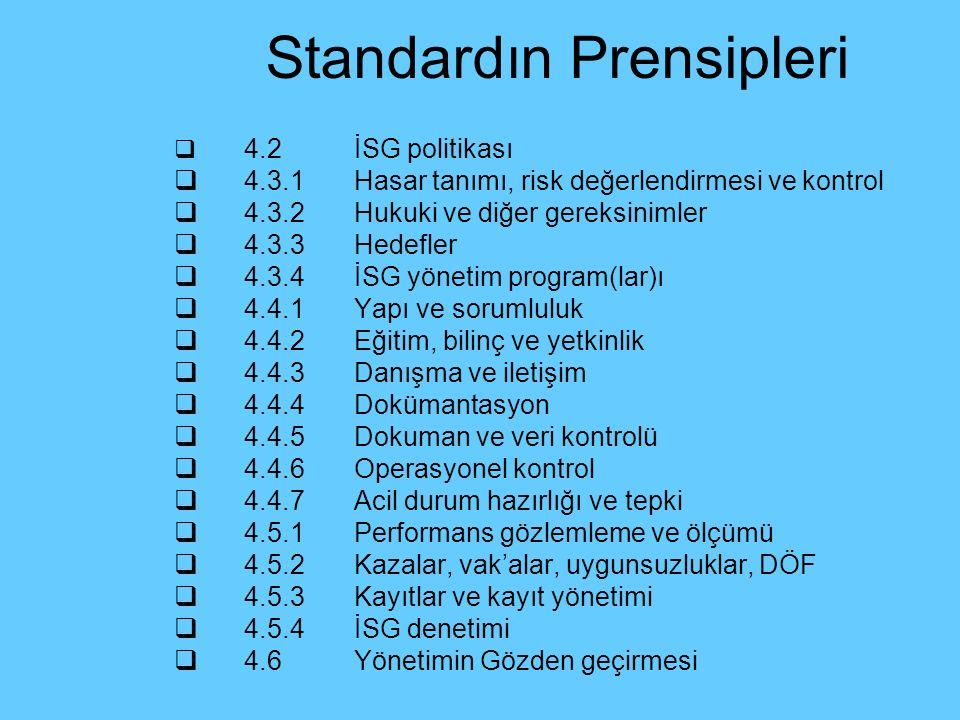 Standardın Prensipleri