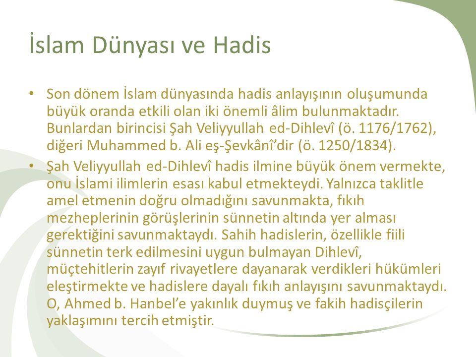 İslam Dünyası ve Hadis