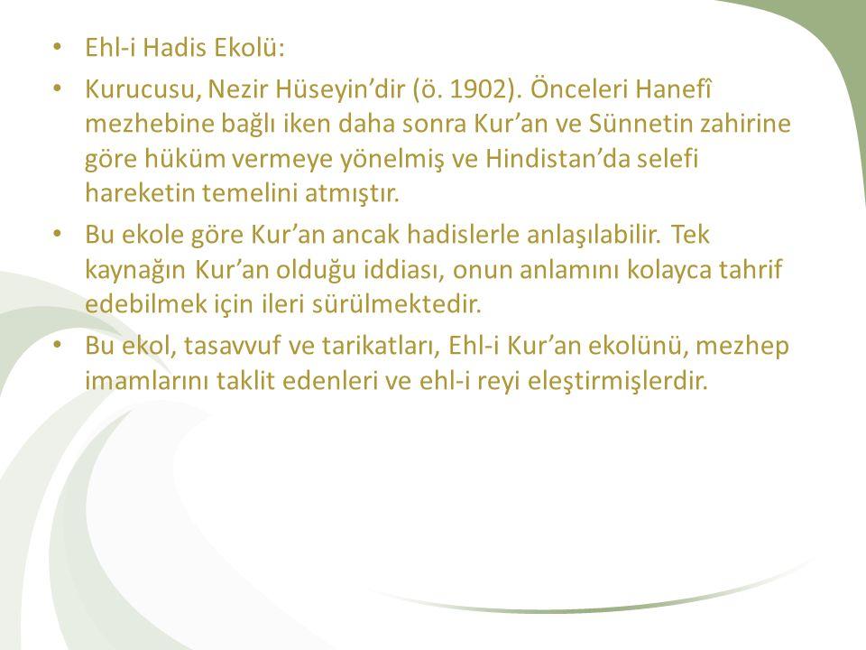 Ehl-i Hadis Ekolü: