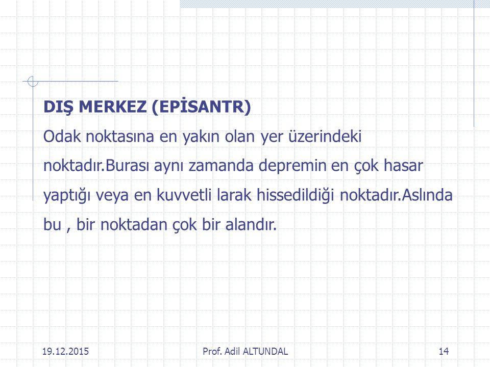 DIŞ MERKEZ (EPİSANTR)