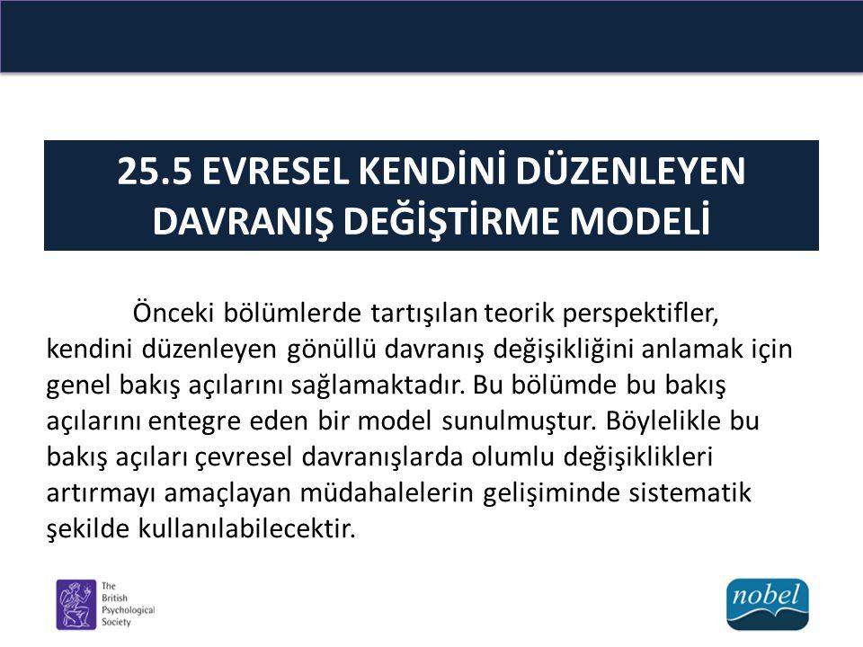 25.5 EVRESEL KENDİNİ DÜZENLEYEN DAVRANIŞ DEĞİŞTİRME MODELİ