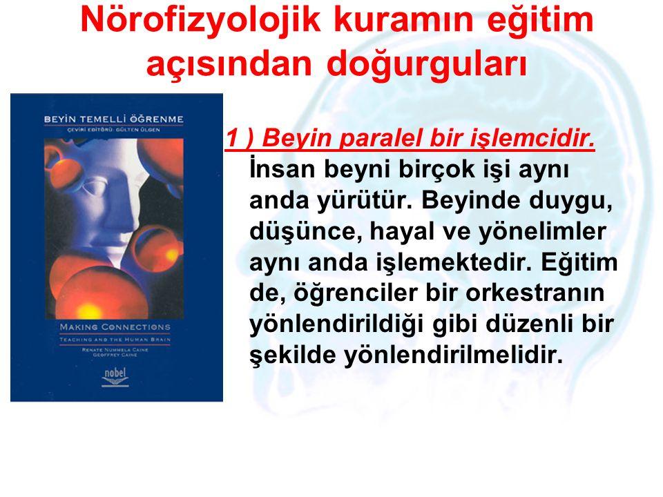 Nörofizyolojik kuramın eğitim açısından doğurguları