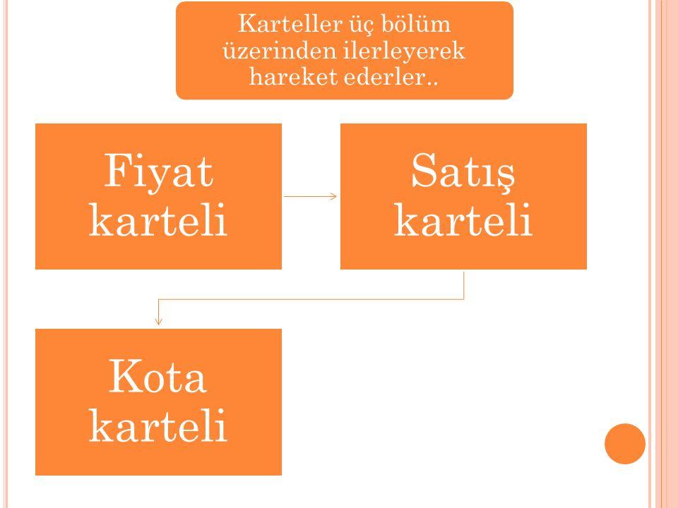 Karteller üç bölüm üzerinden ilerleyerek hareket ederler..