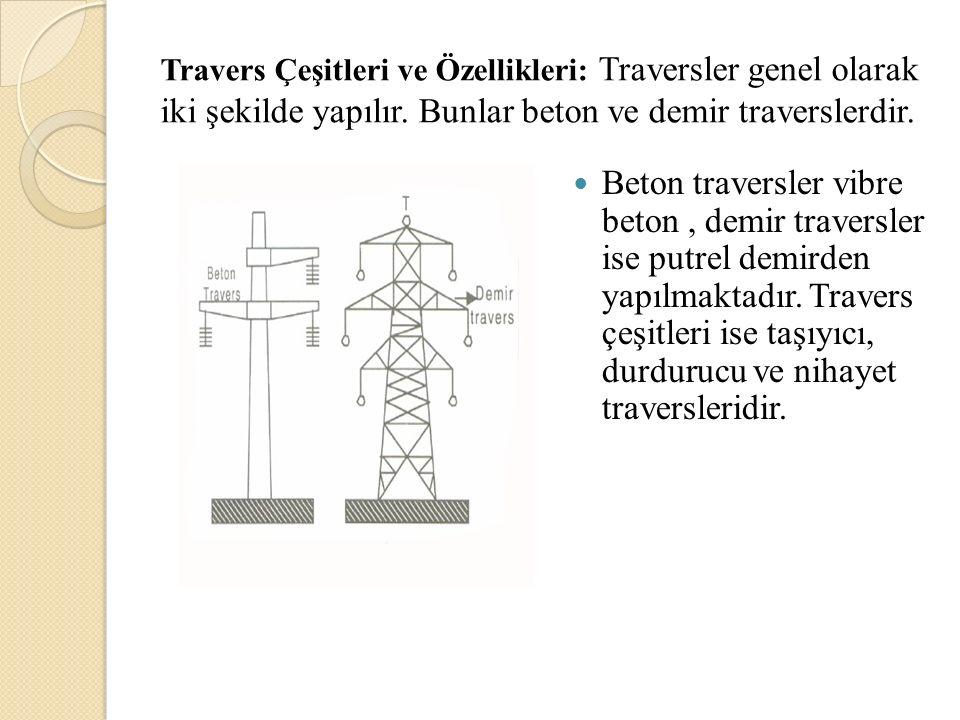Travers Çeşitleri ve Özellikleri: Traversler genel olarak iki şekilde yapılır. Bunlar beton ve demir traverslerdir.