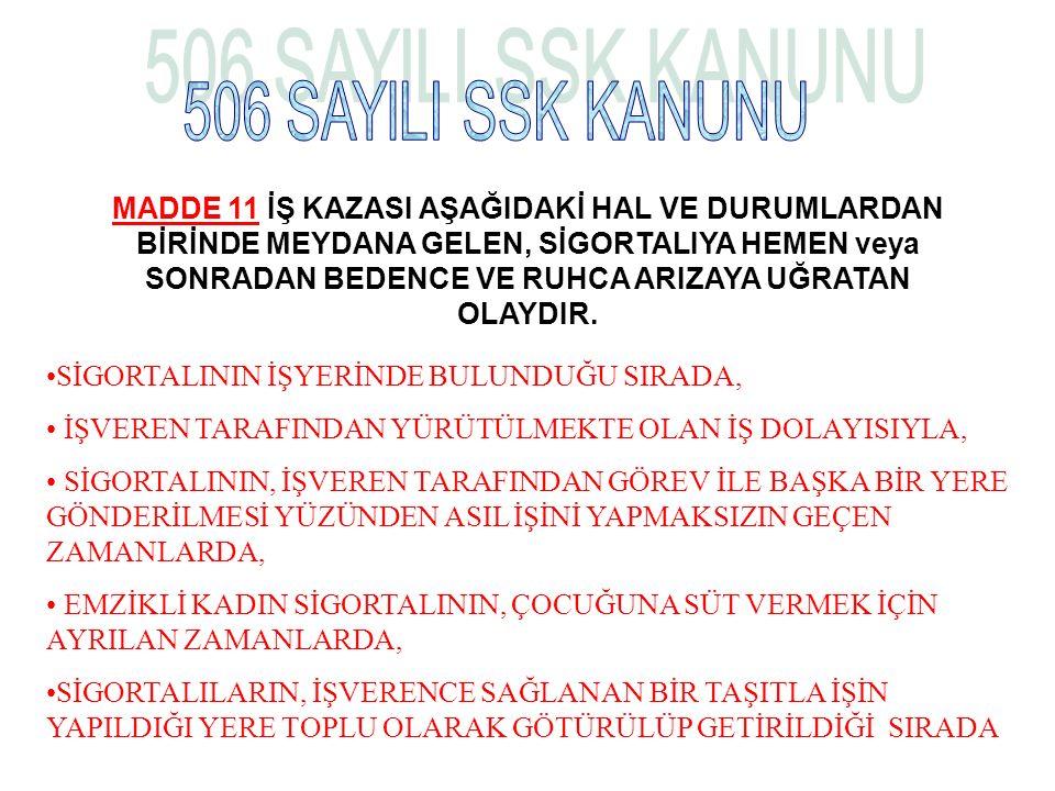 506 SAYILI SSK KANUNU