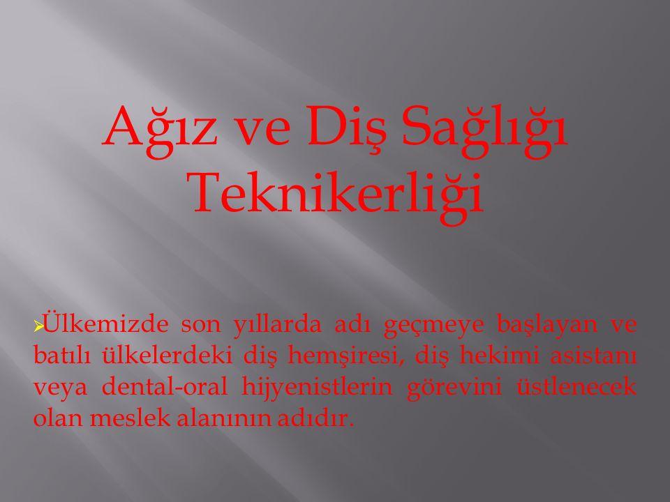 Ağız ve Diş Sağlığı Teknikerliği