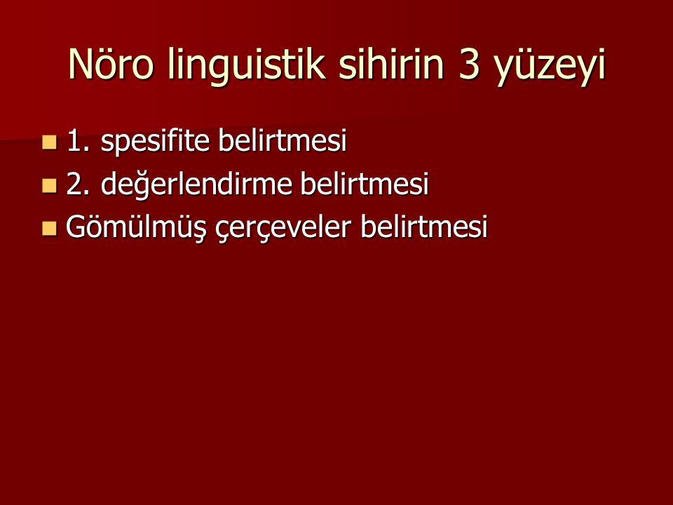 Nöro linguistik sihirin 3 yüzeyi