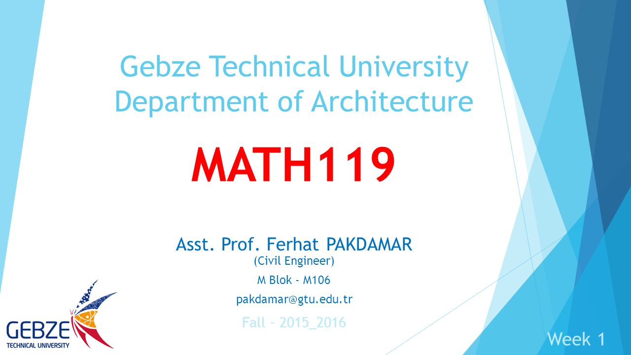 Gebze Technical University Department of Architecture
