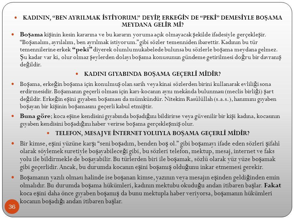 KADININ, BEN AYRILMAK İSTİYORUM