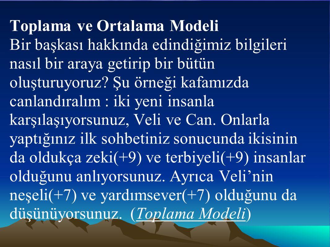 Toplama ve Ortalama Modeli