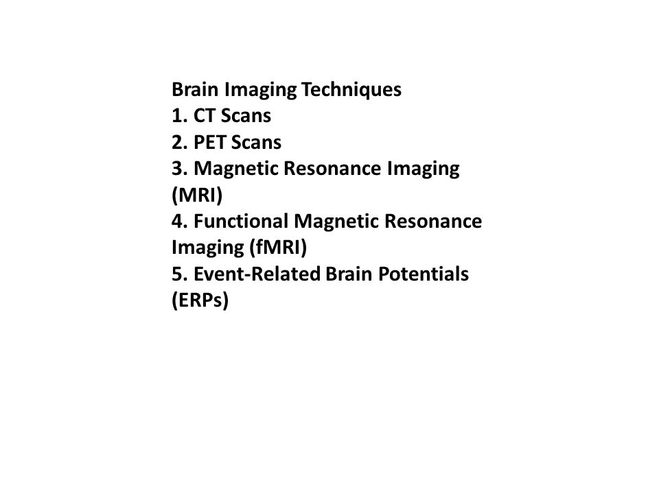 Brain Imaging Techniques