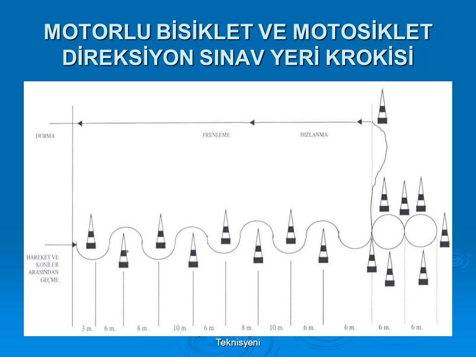 MOTORLU BİSİKLET VE MOTOSİKLET DİREKSİYON SINAV YERİ KROKİSİ